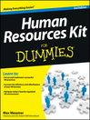 Human Resources Kit For Dummies (eBook)