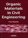Organic Materials in Civil Engineering (eBook)