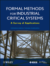 Formal Methods for Industrial Critical Systems (eBook): A Survey of Applications