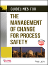 Guidelines for the Management of Change for Process Safety (eBook)