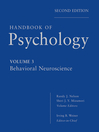 Handbook of Psychology, Behavioral Neuroscience (eBook)