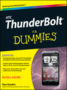 HTC ThunderBolt For Dummies (eBook)