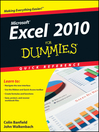 Excel 2010 For Dummies Quick Reference (eBook)