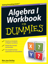 Algebra I Workbook For Dummies (eBook)