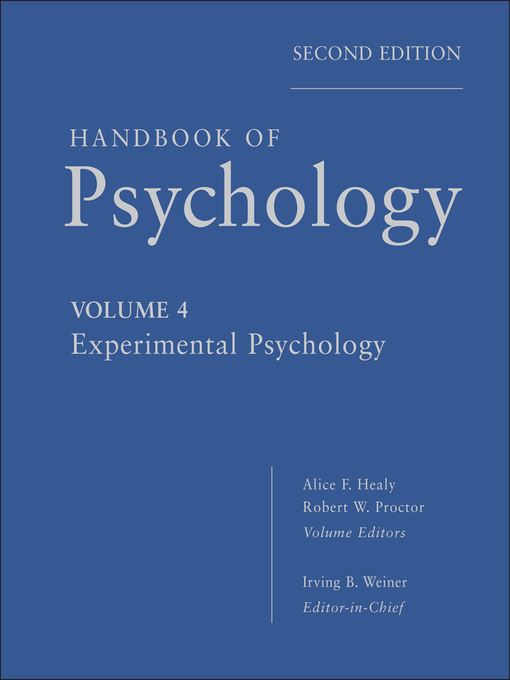 Handbook of Psychology, Experimental Psychology (eBook)