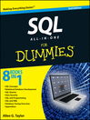 SQL All-in-One For Dummies (eBook)