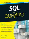 SQL For Dummies (eBook)