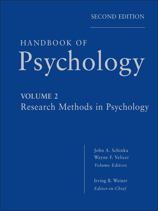Handbook of Psychology, Research Methods in Psychology (eBook)
