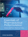 Essentials of Pharmaceutical Preformulation (eBook)