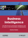 Business Intelligence (eBook): The Effectiveness of Strategic Intelligence and its Impact on the Performance of Organizations
