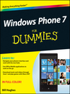 Windows Phone 7 For Dummies (eBook)