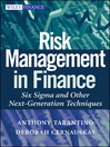 Risk Management in Finance (eBook): Six Sigma and other Next Generation Techniques