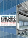Fundamentals of Building Construction, Subscription eBook (eBook): Materials and Methods