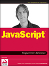 JavaScript Programmer's Reference (eBook)