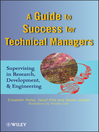 A Guide to Success for Technical Managers (eBook): Supervising in Research, Development, and Engineering