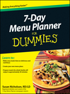 7-Day Menu Planner For Dummies (eBook)