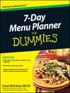 7-Day Menu Planner For Dummies (eBook)