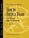 How to Form a Team (eBook): Five Keys to High Performance