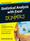 Statistical Analysis with Excel For Dummies® (eBook)