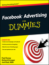 Facebook Advertising For Dummies (eBook)