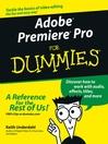 Adobe Premiere Pro For Dummies (eBook)