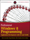 Professional Windows 8 Programming (eBook): Application Development with C# and XAML