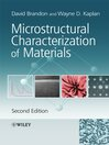 Microstructural Characterization of Materials (eBook)