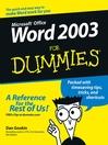Word 2003 For Dummies (eBook)
