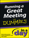 Running a Great Meeting In a Day For Dummies (eBook)