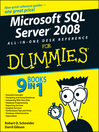 Microsoft SQL ServerTM 2008 All-in-One Desk Reference For Dummies® (eBook)