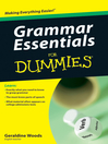 Grammar Essentials For Dummies (eBook)