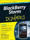 BlackBerry Storm For Dummies (eBook)