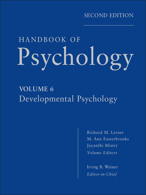 Handbook of Psychology, Developmental Psychology (eBook)