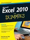 Excel 2010 For Dummies (eBook)