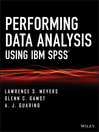 Performing Data Analysis Using IBM SPSS (eBook)