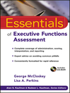 Essentials of Executive Functions Assessment (eBook)