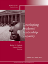 Developing Students' Leadership Capacity (eBook): New Directions for Student Services, Number 140