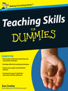 Teaching Skills For Dummies (eBook)