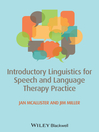 Introductory Linguistics for Speech and Language Therapy Practice (eBook)