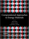 Computational Approaches to Energy Materials (eBook)