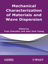 Mechanical Characterization of Materials and Wave Dispersion (eBook)