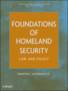 Foundations of Homeland Security (eBook): Law and Policy