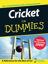 Cricket For Dummies (eBook)