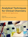 Analytical Techniques for Clinical Chemistry (eBook): Methods and Applications