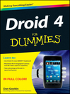 Droid 4 For Dummies (eBook)