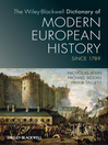 The Wiley-Blackwell Dictionary of Modern European History Since 1789 (eBook)