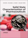 Solid State Characterization of Pharmaceuticals (eBook)