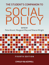 The Student's Companion to Social Policy (eBook)