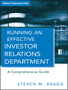 Running an Effective Investor Relations Department (eBook): A Comprehensive Guide