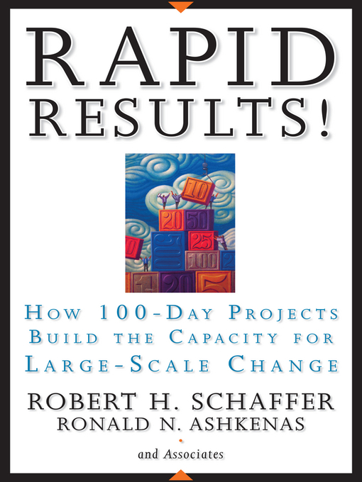 Rapid Results! (eBook): How 100-Day Projects Build the Capacity for Large-Scale Change